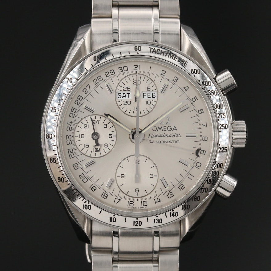 Omega Speedmaster Day - Date Stainless Steel Automatic Wristwatch