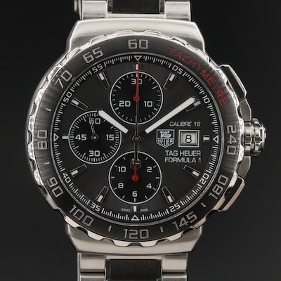 TAG Heuer Formula 1 Calibre 16 Stainless Steel and Ceramic Automatic Wristwatch