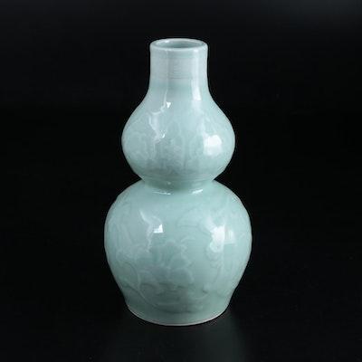 Chinese Celadon Glaze Double Gourd Ceramic Vase