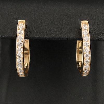 14K 2.50 CTW Diamond Hoop Earrings