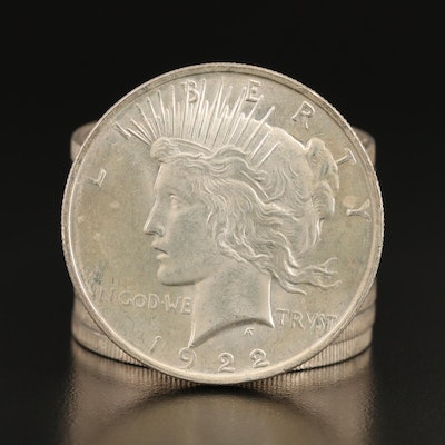 Ten 1922 Peace Silver Dollars