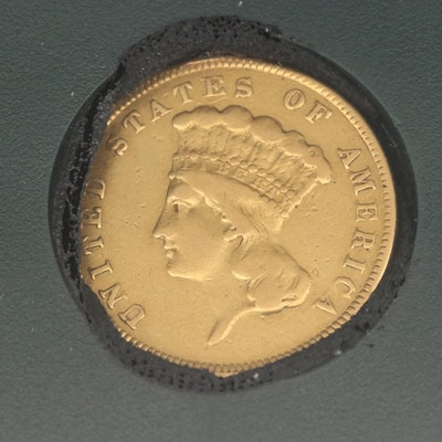 1887 Indian Princess Head $3 Gold Coin