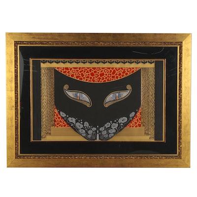 """Erté Serigraph """"Eyes of Jealousy,"""" 1983"""