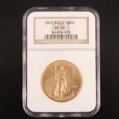 2001 NGC MS69 1oz $50 American Gold Eagle