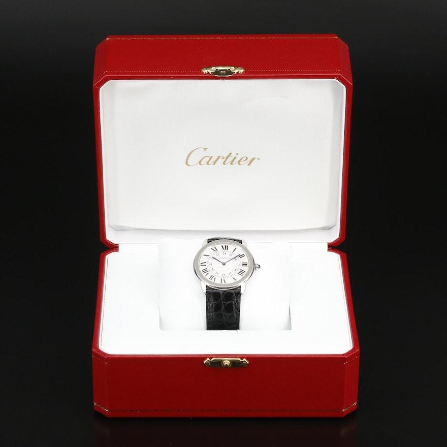 "Cartier ""Ronde Solo"" Stainless Steel Quartz Wristwatch"