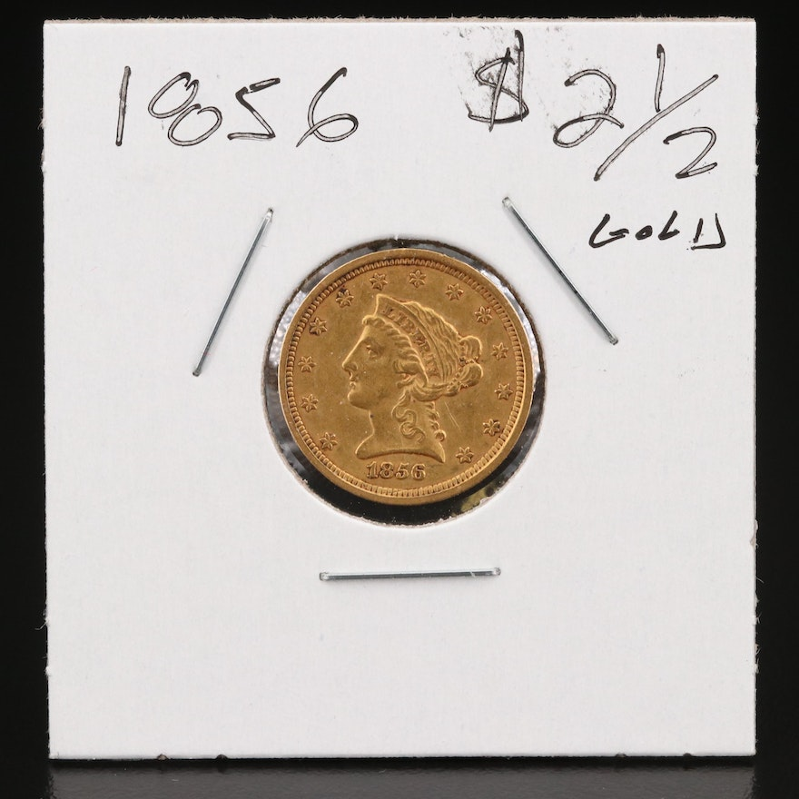 1856 Liberty Head $2.50 Gold Quarter Eagle