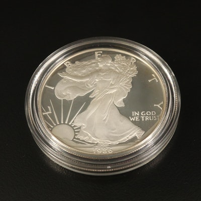 1986-S Key Date .999 Silver Eagle Bullion Dollar Coin