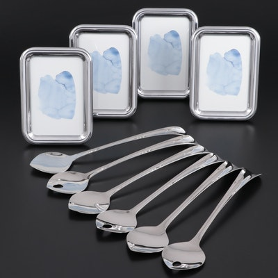 """Georg Jensen """"Tableau"""" Picture Frames and """"Duo"""" Stainless Steel Salad Servers"""