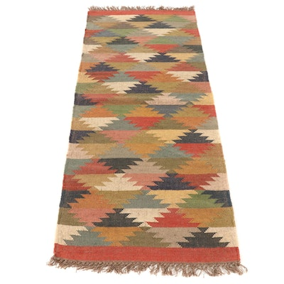 2'7 x 6'3 Handwoven Central Asian Wool Kilim