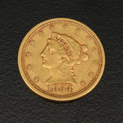1854 Liberty Head $2.50 Gold Quarter Eagle