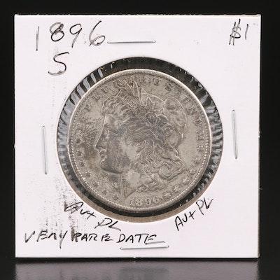 Better Date Lower Mintage 1896-S Morgan Silver Dollar