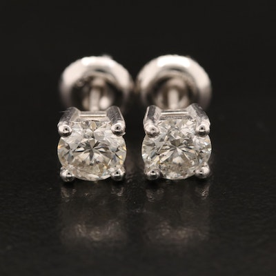 18K 1.28 CTW Diamond Stud Earrings