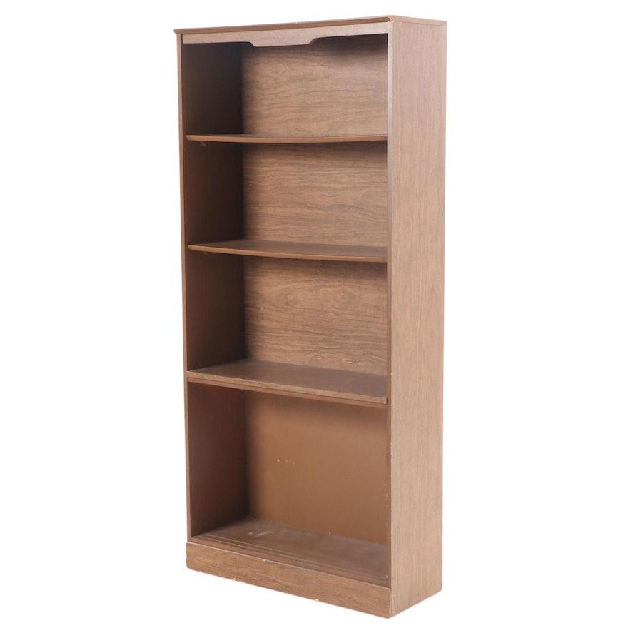 Walnut Finish Laminate Bookcase, Late 20th Century