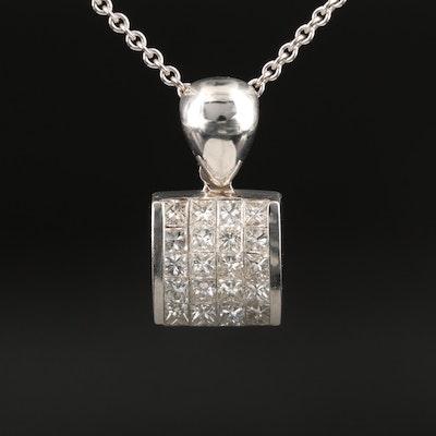 18K 1.00 CTW Diamond Pendant Necklace