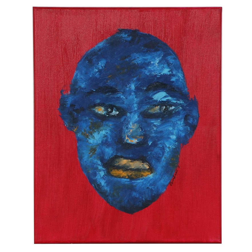 """Oluwakemi Omowaire Oil Painting """"Dearest,"""" 2020"""