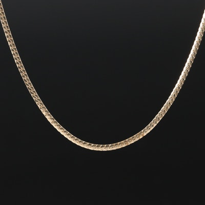 14K Herringbone Chain Necklace