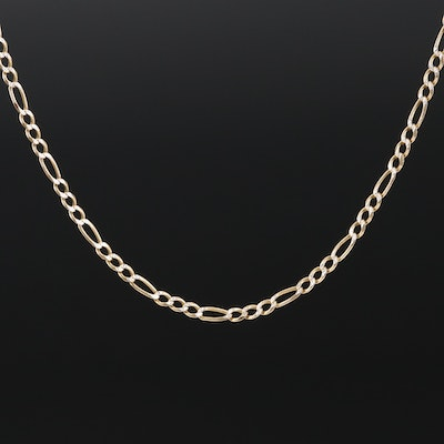 10K Figaro Chain Necklace