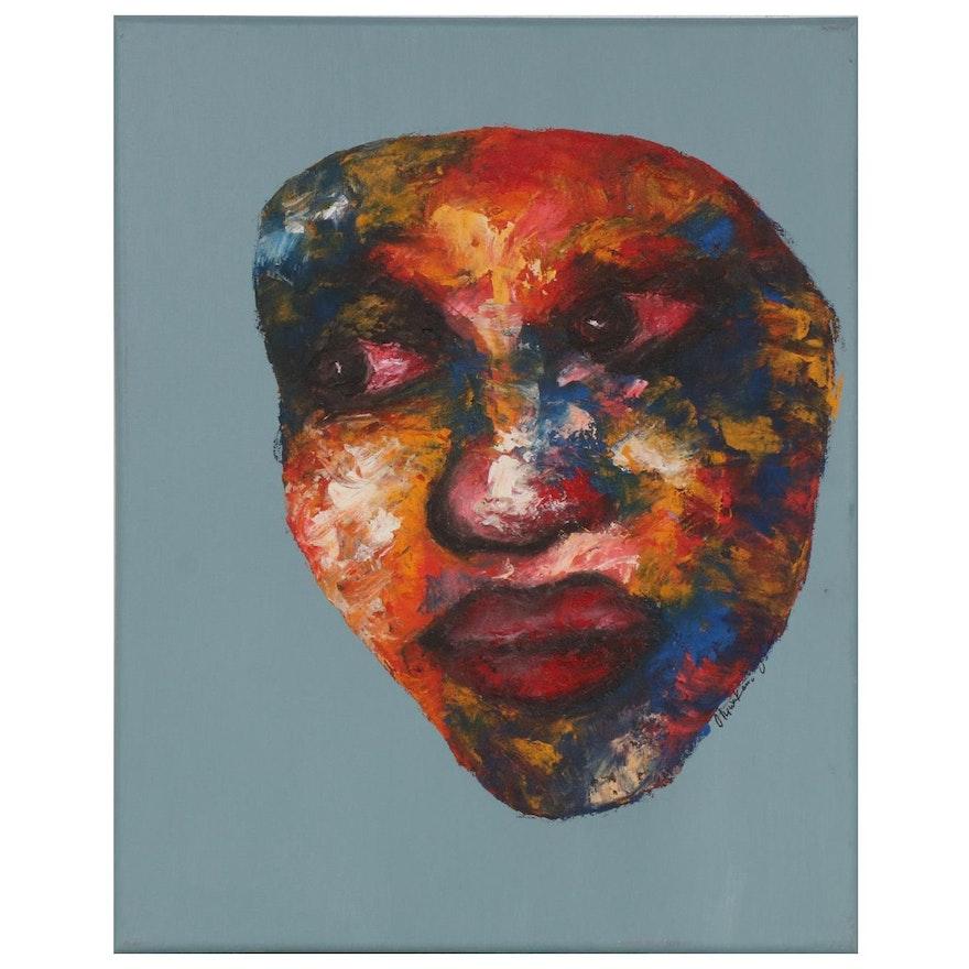 "Oluwakemi Omowaire Oil Painting ""Rebirth,"" 2020"