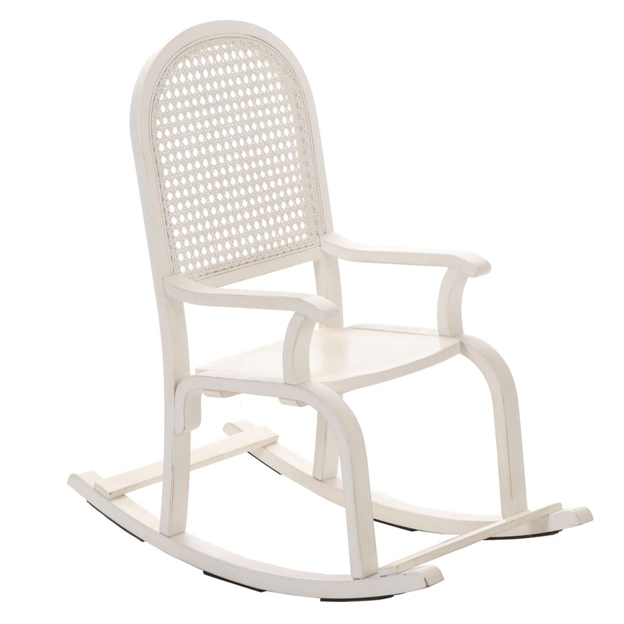 Pottery Barn Kids Painted Rocking Chair with Caned Back