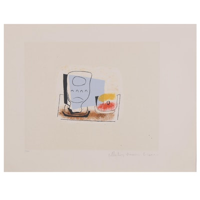 "Marina Picasso Estate Lithograph after Pablo Picasso ""Nature Morte du Verre"""