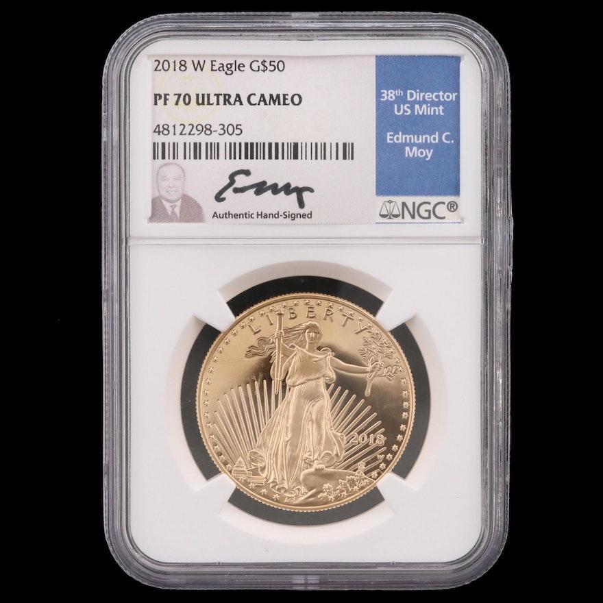2018-W NGC PF70 Ultra Cameo Gold Eagle Bullion Coin