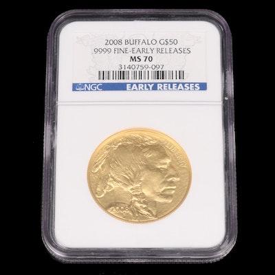 2008 NGC MS70 Gold American Buffalo $50 1oz Bullion Coin