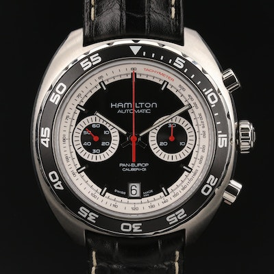 Hamilton Pan-Europ Chronograph Stainless Steel Automatic Wristwatch