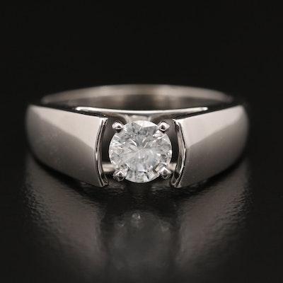 14K 0.54 CT Diamond Solitaire Ring