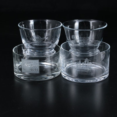 Cincinnati, College of Mt. Joseph and Other Commemorative Etched Glass Bowls
