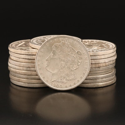 Twenty 1900 Morgan Silver Dollars