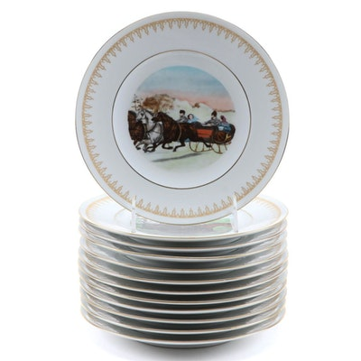 "Bing & Grøndahl for the Danbury Mint ""Currier & Ives"" Porcelain Plates, 1977–78"