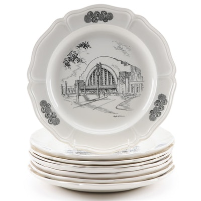 "Wedgwood Caroline Williams ""Scenes of Cincinnati"" Ceramic Dinner Plates"