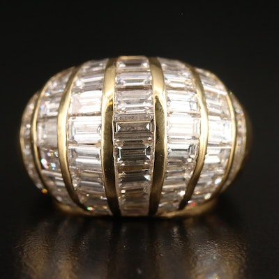 18K 5.10 CTW Diamond Dome Ring