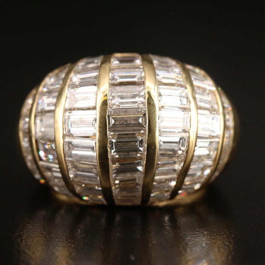 18K 5.10 CTW Diamond Dome Ring