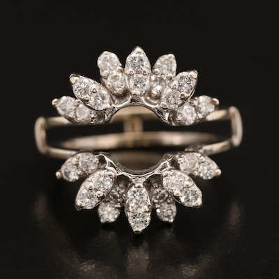 14K 1.20 CTW Diamond Ring Jacket