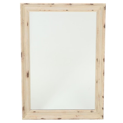 Raschella Collection Distressed White Framed Wall Mirror