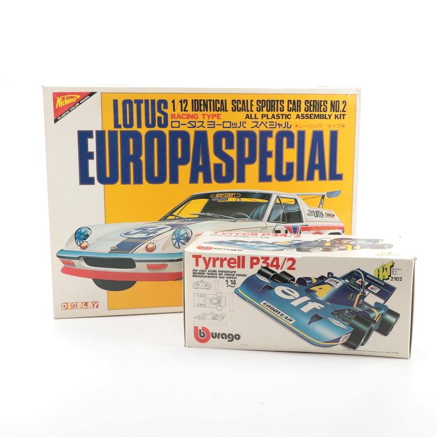 "Bburago Die Cast Tyrrell ""Six-Wheeler"" Race Car with Nichimo Lotus Car Kit"