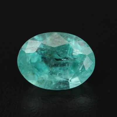 Loose 2.70 CT Oval Faceted Emerald