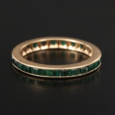 14K Spinel Eternity Band