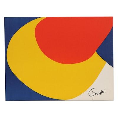 "Alexander Calder Color Lithograph ""Convection,"" 1974"