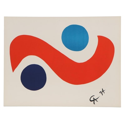 """Alexander Calder Color Lithograph """"Skybird,"""" 1974"""