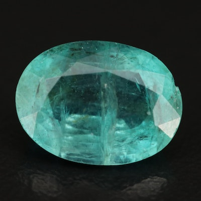Loose 3.77 CT Oval Faceted Emerald