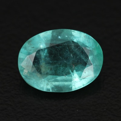 Loose 2.09 CT Oval Faceted Emerald
