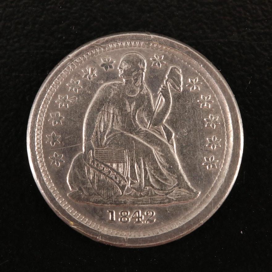 1842-O Liberty Seated Silver Dime