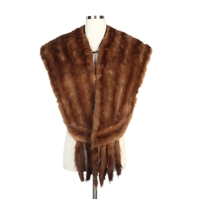 Stone Marten Fur Stole with Tails