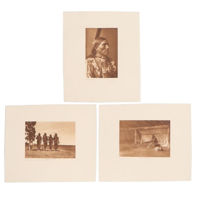 Edward S. Curtis Photogravures of Indigenous People