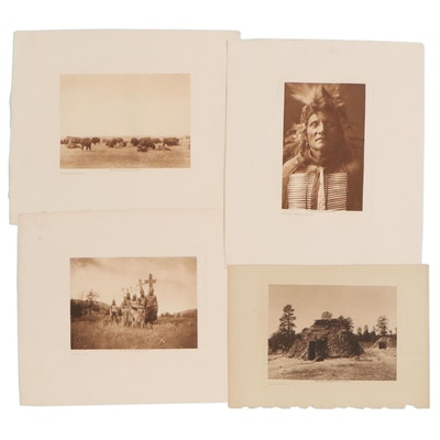 Photogravures after Edward S. Curtis of Indigenous People and Landscapes