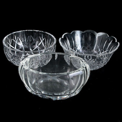 Waterford, Moser, and Other Crystal Bowls