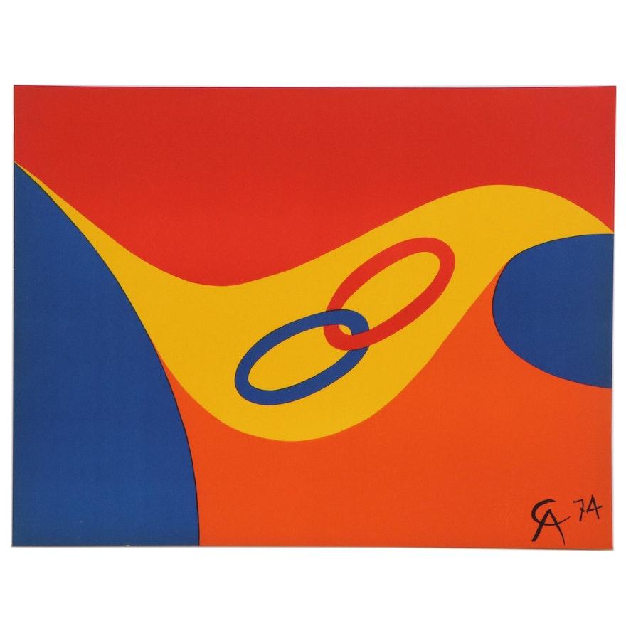 "Alexander Calder Color Lithograph ""Friendship,"" 1974"