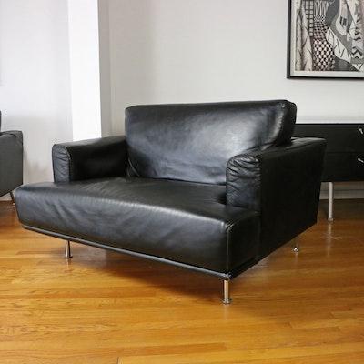 Piero Lissoni for Cassina Modernist Pelle Leather Armchair